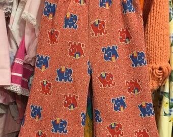 70s Elephant Pants 9/12 Months