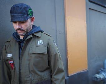 Black Hat for Men Stylish Hat for him Green Lantern Aficionado Comic Con Gift for him Mens accessories