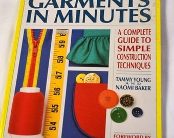 "Christmas in July Vintage Sewing Book ""Serged Garments in Minutes"""
