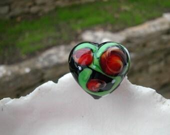 26mm Murano Glass Heart Bead
