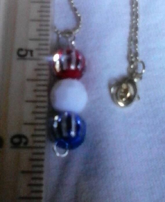 Striped Patriotic Drop Necklace
