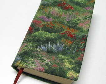 Book cover, STANDARD SIZE paperback book cover, mass market size, book protector, cotton, padded cover, reminiscent of Thomas Kinkade