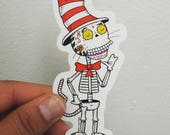Calavera in the Hat Die Cut Vinyl Sticker