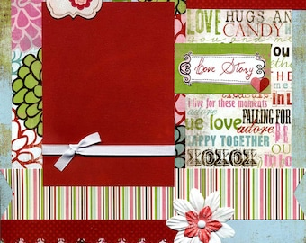 Love Story - Premade Scrapbook Page