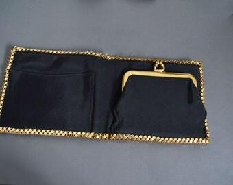 Whiting & Davis Mesh bag Wallet, Vintage Coin Purse