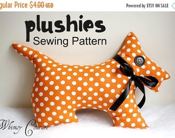 SALE Whimsy Couture PDF Sewing Pattern for Plushies Scotty Dog and Kitty Cat Instant
