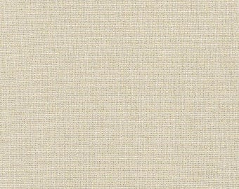 Robert Kaufman Fabric, Essex Yarn Dyed Metallic, E105-1323 Sand, 50% Linen, #181