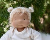 "RESERVED FOR MAGGIE Waldorf Inspired doll by Little Noel 14"" lightly weighted last payment"