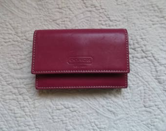 Authentic COACH Rhaspberry Pink Small Change Purse/Credit Card Holder