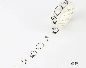 Facebook Like Masking Tape •  FB Likes Washi Tape (LF15-6903)