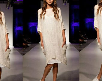 Oversized Gauze Linen Dress