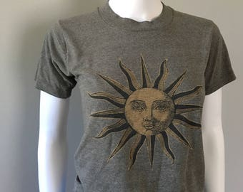 Vintage grey sun Tshirt xxsmall tee shirt