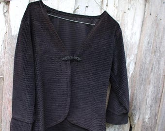 Vintage 1980's Era Amish Ladies' Black Jacket