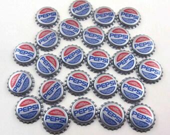 Vintage Silver Pepsi Cola Bottle Caps Set of 25