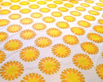 vintage fabric / glass curtain fabric / original fabric / retro / retro camping