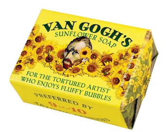 Vincent Van Gogh's Sunflower Soap  Bar