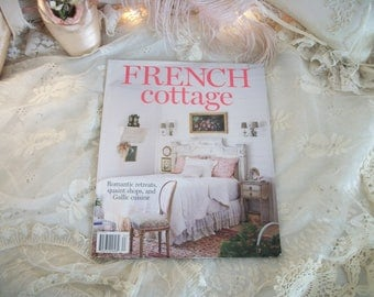 back issue 'french cottage' magazine, hoffman media, spring 2016, design inspiration, home decorating, beautiful color photography, no ads