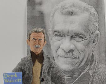 Derek Walcott Writer Doll Nobel Prize Winner Miniature Art