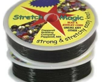 Stretch Magic 1.0mm Black Elastic Cord 25m Spool