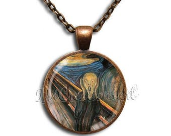 25% OFF - The Scream Glass Dome Pendant or with Chain Link Necklace  AP125