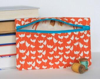 Orange Blossom Bag Zipper Pouch Coin Purse