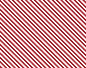 ON SALE Riley Blake Designs Sweet Orchard Stripe Red