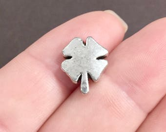 10, Clover, Four Leaf, Lucky Clover, Shamrock, Large, Spacer Beads  11x14x4mm Hole: Approx. 1.5mm