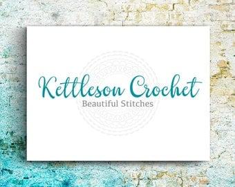 Premade Logo Crochet, Knitting Business, Cutomizable