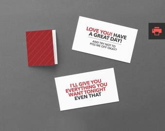 """Funny Love Cards, Notes. Printable, Instant Download. For Boyfriend, Girlfriend. Sexy Valentine's Cards, Modern, Last Minute. """"Love"""" (PNL01)"""