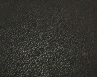 Dark CHOCOLATE BROWN cow hide Leather Piece #4 9x5""