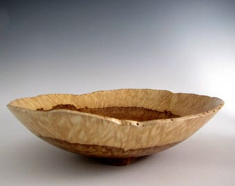 Wood Bowl - Large Chestnut Oak Burl Wood Turned Bowl - Fruit Bowl - Lathe Turned Bowl - Wood Turning - Centerpiece Bowl - Wooden Bowl