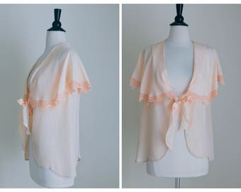 Flutter on By Bed Jacket | 1940s