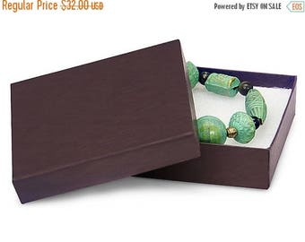 memorial day sale 50 Pack 3.5 X 3.5 X 1 Inch Chocolate Brown Size Cotton Filled Jewelry Presentation Gift Boxes