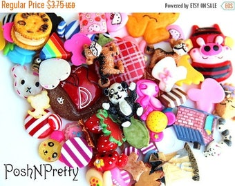 20% OFF EXP 06/30 12 PCS Assorted Resin Flatback Scrapbooking Buttons