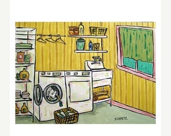 20% off Egret Doing Laundry Art Print