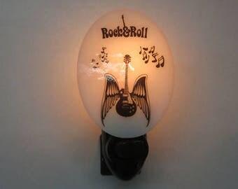 Music NLs - 3 Choices - Jazz Night Light - Rock & Roll Guitar - Dichroic Music Notes Heart Nightlight - Fused Glass Night Lights