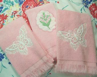 vintage martex terry cloth towels