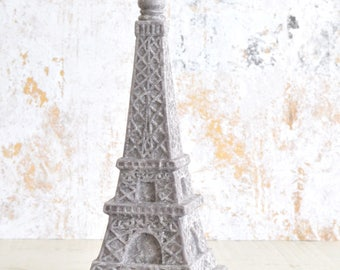 Gray Stone Eiffel Tower Candle