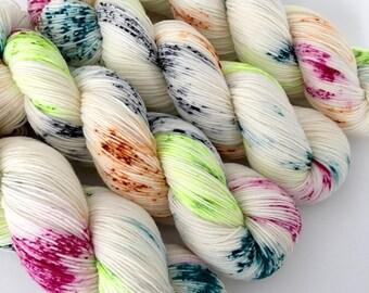 REBEL - Hand Dyed Yarn - Signature Merino Nylon Sock Yarn Fingering - Ready to Ship - Vivid Yarn Studio