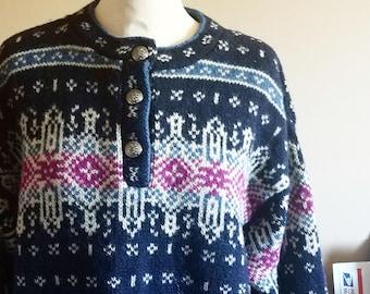 Beautiful Nortic Style Wool L L Bean Scandinavian Sweater