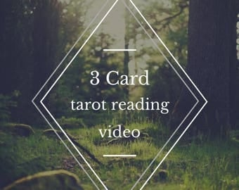 Summer Solstice Sale Personal video tarot reading / 3 card reading / video tarot reading / online tarot / spiritual service / intuitive read