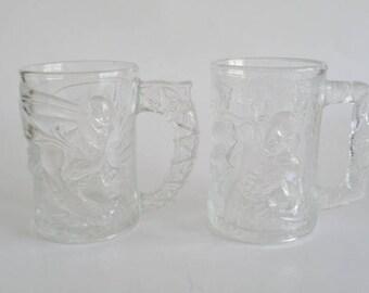 McDonald's  Collector Glass Mug - Batman Forever Batman Mug and Robin Mug