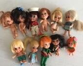 Large lot vintage Liddle Kiddle dolls clothes accessories Kiddles Kabin house