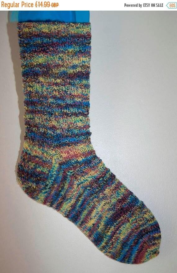 Christmas In July Handknitted Socks in Variegated Yarn
