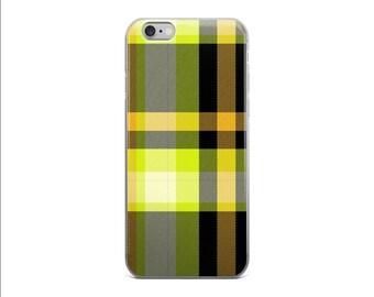 Yellow Tartan Phone Case Yellow iPhone 6s Case iPhone 6 Plus Case iPhone 7 Case Scottish Tartan Cover iPhone 6 iPhone 6 Case iPhone 5s Case