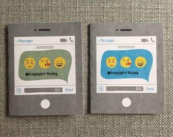 Chat Message Birthday Card Set