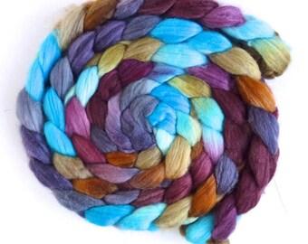 Merino/ Superwash Merino/ Silk Roving - Handpainted Spinning or Felting Fiber, Opening Farewell