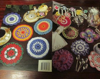 Doily Crochet Patterns Mini Mats Annie's Attic 8B077 Crocheting Pattern Leaflet