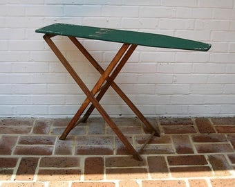 Vintage Toy Ironing Board Vintage Toy Wooden Ironing Board Childs Wooden Ironing Board