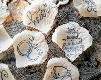 Engagement Party Decoration Ideas/Bridal Shower Decorations Party Decorations and Supplies/ Wedding Cake Table Decorating Ideas/Table Runner